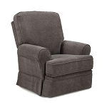 IN STOCK FLOOR MODEL! Juliana Swivel Glider Recliner in Grey